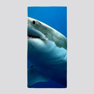 GREAT WHITE SHARK 3 Beach Towel